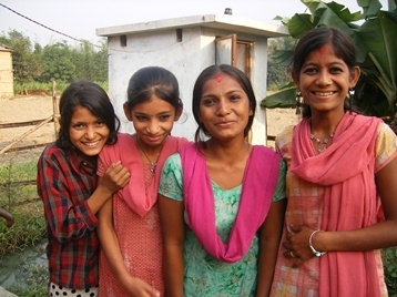 Four young Nepalese women